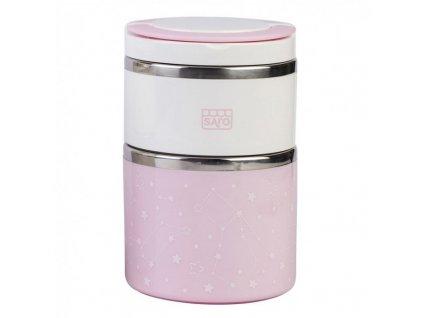 Nerezová termoska na jedlo 820ml Pink