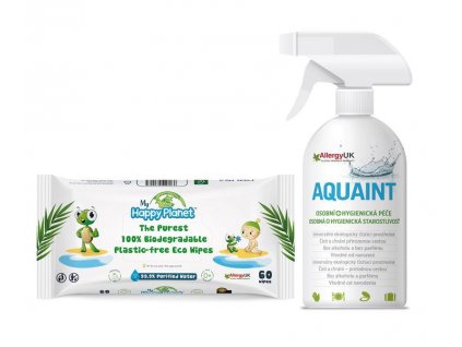 AQUAINT Aquaint darčekový set 500ml + obrúsky HAPPY PLANET