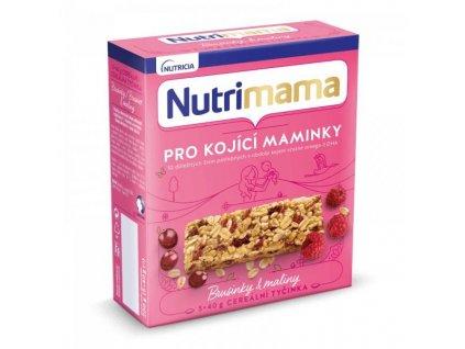 NUTRILON Tyčinky cereálne NUTRILON NUTRIMAMA Profutura Brusnice a maliny 5x40g