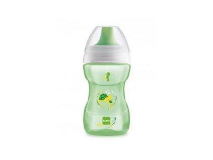 MAM MAM Hrnček na učenie Fun to drink cup Deep sea 270 ml, 8+ m zelený