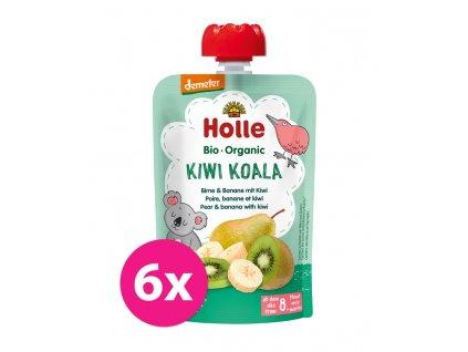 HOLLE 6x HOLLE Kiwi Koala Bio pyré hruška banán kiwi 100 g (8+)