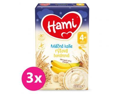 HAMI 3x HAMI Mliečna kaša ryžová banánová na dobrú noc 225g