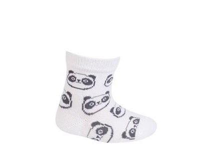 WOLA WOLA Ponožky dojčenské bavlnené neutrál Panda White 18-20