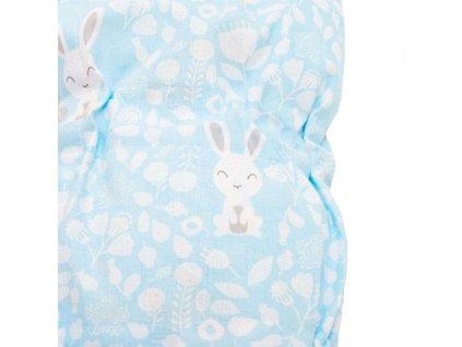 New baby zavinovačka králičky modrá