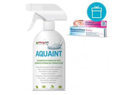 AQUAINT BEPANTHEN® Baby Masť (30 g) + AQUAINT 500 ml