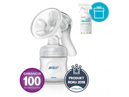 AQUAINT PHILIPS AVENT Odsávačka mlieka Natural + AQUAINT 500 ml