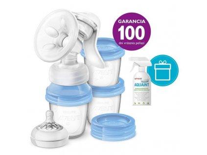 AQUAINT PHILIPS AVENT Odsávačka mlieka Natural s VIA systémom + AQUAINT 500 ml