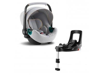 BRITAX Autosedačka Baby-Safe 3 i-Size Bundle Flex iSense, Nordic Grey