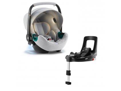 BRITAX Autosedačka Baby-Safe iSense Bundle Flex iSense, Nordic Grey
