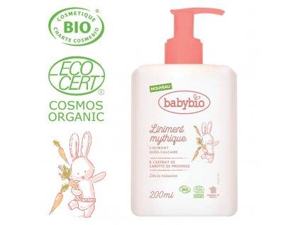 BABYBIO BABYBIO Prebaľovací BIO krém pre bábätká od narodenia 200 ml