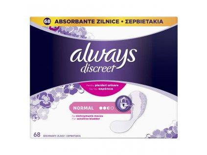 ALWAYS DISCREET ALWAYS DISCREET Normal inkontinenčné vložky vhodné aj pre citlivý močový mechúr