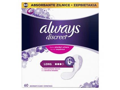 ALWAYS DISCREET ALWAYS DISCREET Long Inkontinenčné vložky vhodné aj pre citlivý močový mechúr
