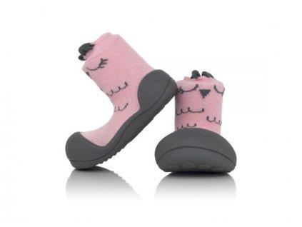 ATTIPAS ATTIPAS Dievčenské topánočky Cutie, veľ. XL - ružová