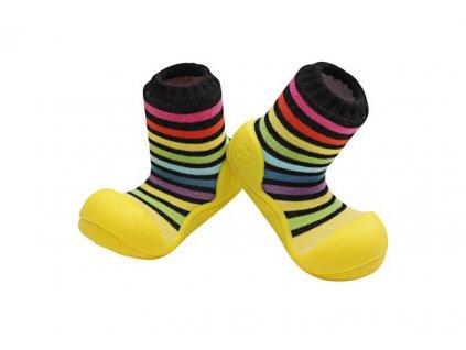 ATTIPAS ATTIPAS Botičky pro miminka Rainbow yellow XXXL/25,5