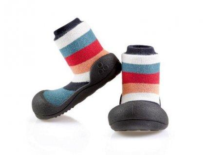 ATTIPAS ATTIPAS Detské topánočky Rainbow Black XL