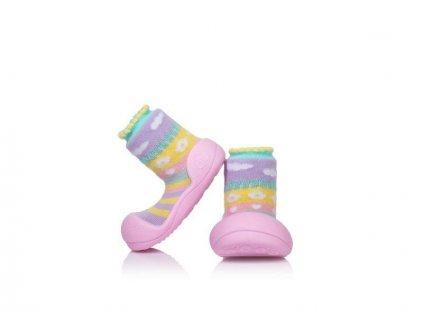 ATTIPAS ATTIPAS Dievčenské topánočky Attibebe, veľ. L - ružová