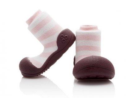 ATTIPAS ATTIPAS Dievčenské topánočky Natural Herb, veľ. S - ružová