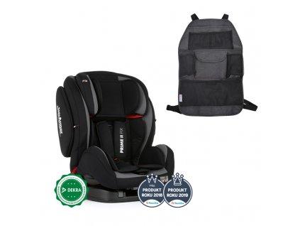 PETITEMARS PETITE&MARS Autosedačka Prime II Isofix Black (9-36 kg) + organizér na sedadlo Order