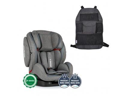 PETITEMARS PETITE&MARS Autosedačka Prime II Isofix Stone Air (9-36 kg) + organizér na sedadlo Order