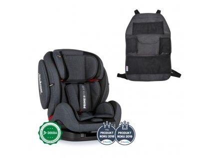 PETITEMARS PETITE&MARS Autosedačka Prime II Isofix Night Air (9-36 kg) + organizér na sedadlo Order