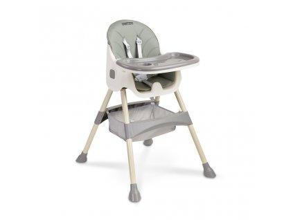 Jedálenská stolička 2v1 CARETERO Bill grey