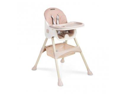 Jedálenská stolička 2v1 CARETERO Bill pink