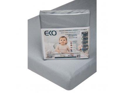 EKO EKO Plachta s gumou žerzej šedá 120x60 cm