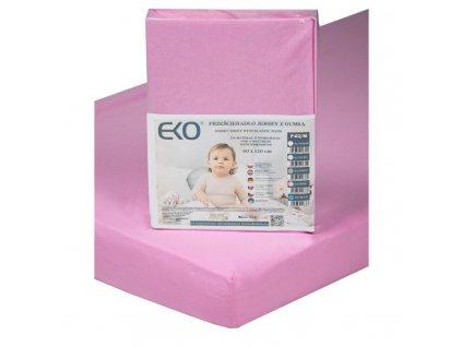EKO EKO Plachta s gumou žerzej ružová 120x60 cm