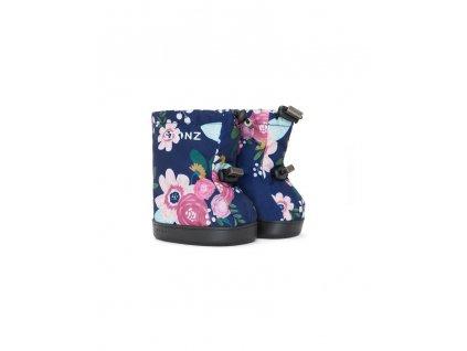 stonz detske outdoor capacky toddler booties wildflower navy