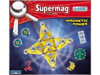 Supermag Magnetická stavebnica klasik 72dielov