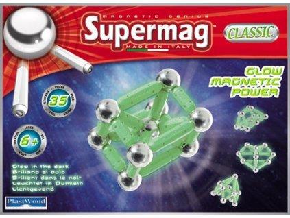 Supermag Magnetická stavebnica klasik 35d fosforeskujúca