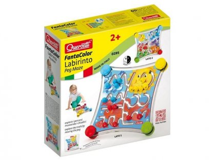 Quercetti Fantacolor Labirinto - cestovná bludisková hra