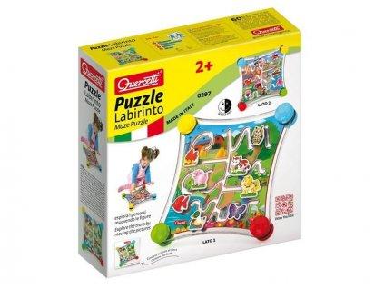 Quercetti Puzzle Labirinto - cestovná bludisková hra