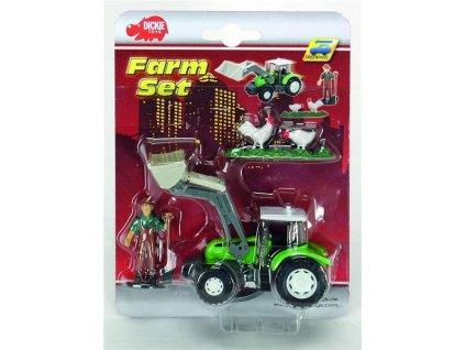 Dickie Traktor s farmárom a príslušenstvom