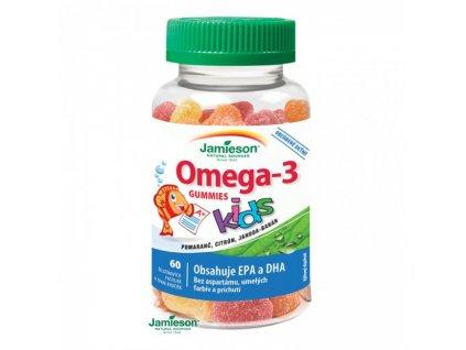 Jamieson Omega-3 Kids Gummies želatínové pastilky pre deti 60 pas.