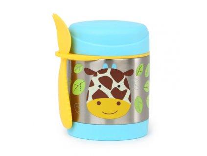 Skip*Hop ZOO termoska na jedlo s vidličkou - žirafa