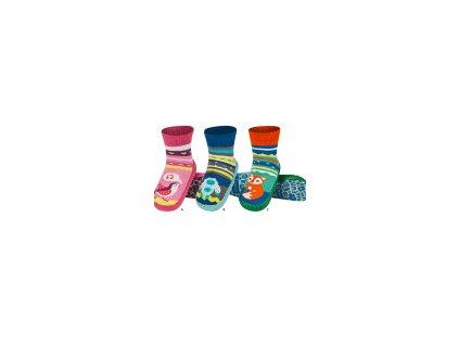 SOXO Ponožkové capačky s koženou podrážkou - veľ.23-24