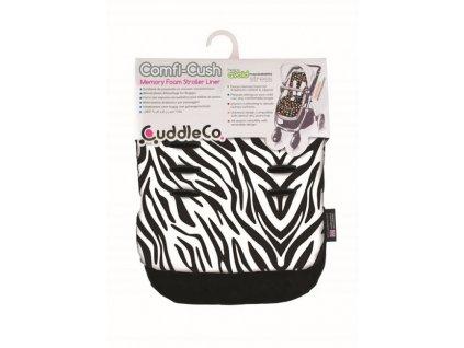 CuddleCo podložka z pamäťovej peny Comfi-Cush - zebra