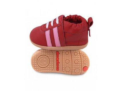 Shooshoos Red sport/ Pink stripes