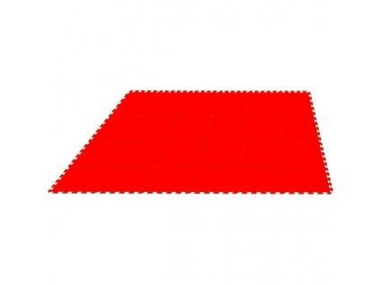 MALÝ GÉNIUS Penový koberec 24 - MAXI / jednofarebný červený