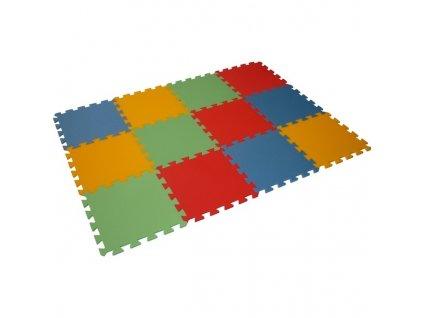 MALÝ GÉNIUS Penový koberec 12 - MAXI - hrubý / Mix farieb