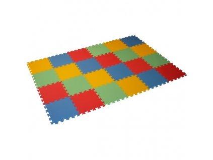MALÝ GÉNIUS Penový koberec 24 - MAXI - hrubý / Mix farieb
