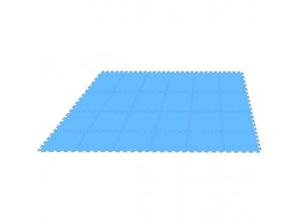 MALÝ GÉNIUS Penový koberec 24 - MAXI - hrubý / Jednofarebný - modrý