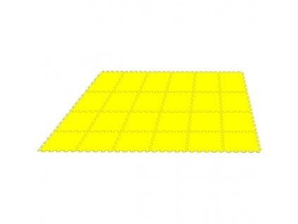 MALÝ GÉNIUS Penový koberec 24 - MAXI - hrubý / Jednofarebný - žltý