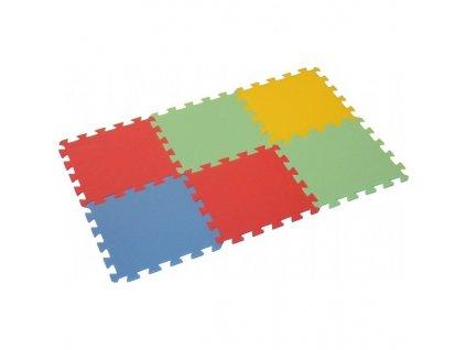 MALÝ GÉNIUS Penový koberec 6 - MAXI - hrubý / Mix farieb