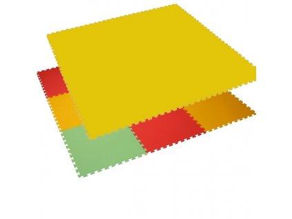 MALÝ GÉNIUS Penový koberec 6 - MAXI - hrubý / Jednofarebný - žltý