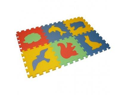 MALÝ GÉNIUS Penový koberec 6 - MAXI - hrubý / Zvieratká 4
