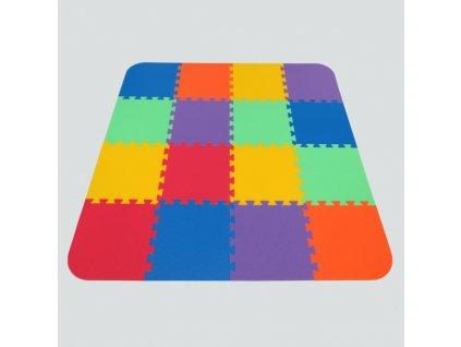 MALÝ GÉNIUS Penový koberec 16 - OPTIMAL - hrubý / Mix farieb