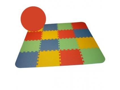 MALÝ GÉNIUS Penový koberec 16 - OPTIMAL - hrubý / Jednofarebný - červený