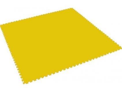MALÝ GÉNIUS Penový koberec XL - hrubý / jednotlivý diel - žltý